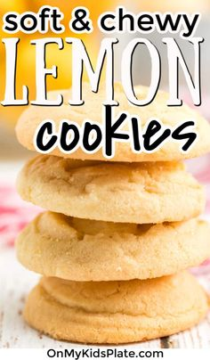 These sweet and easy soft lemon cookies are the best little cookie for a delicious treat. Full of fresh lemon zest, these are bright, yummy cookies from scratch you'll want to make again and again! Lemon Cookies Easy, Lemon Sugar Cookies, Yummy Cookies, Yummy Treats, Sweet Treats, Easy Desserts, Delicious Desserts, Homemade Blueberry Muffins, Cookies From Scratch