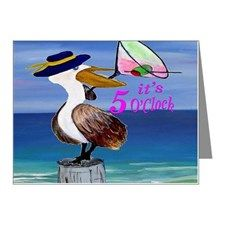 Martini Pelican Art Note Cards (Pk of 20) for