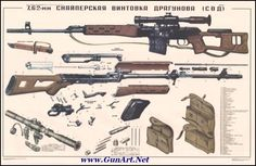 Soviet/Russian SVD Dragunov Sniper Rifle Poster For Sale at ...