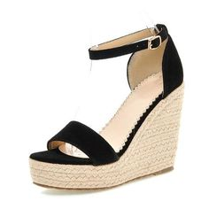 926d8caeea6  EBay  Fanyuan New Arrival Summer Women Platform Super High Heels Shoes  Ankle Strap Wedge
