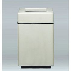 "Allied Molded Products Bradley 25-Gal Top Load Industrial Trash Bin Color: Gray, Size: 32"" H x 20"" W x 20"" D, Configuration: Trash Only"