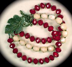 Red velvet & vintage crystals - Love2BeadbyCindy