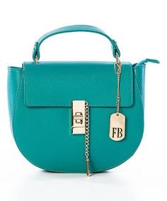 Another great find on #zulily! Turquoise Leather Mini Handbag #zulilyfinds