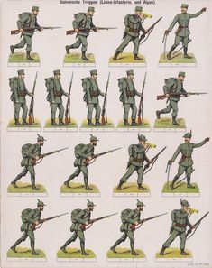 Soldatini di carta j.f.s.i.e. no 1352 CK truppen. ca.1905 | Arte y antigüedades, Objetos antiguos y juguetes, Juguetes antiguos | eBay!