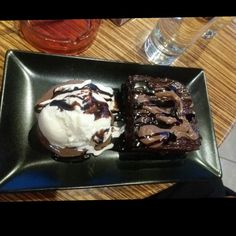 Brownies icecream