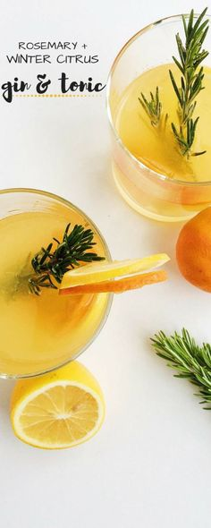 This Rosemary Citrus Gin and Tonic is refreshing, festive, and seasonal, using winter citrus such as Meyer lemons and clementines. The perfect winter cocktail, made easy and effortless thanks to Tropicana Tangerine Lemonade. #ad #MixedWithTrop