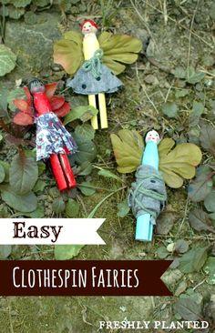 Easy Clothespin Fairies- Perfect for fairy gardens & creative play!