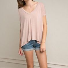 Brandy Melville Blush Sheron New with tags, OSFA, $20 shipped PayPal or mercari. ❌ no trades ❌ Brandy Melville Tops