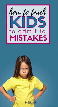 Getting kids to admit mistakes and apologize is SO hard!  How can you make it happen?  This post takes you through the steps and even has a video for kids explaining the process.  via @noguiltmom Anger Management, Classroom Management, Fear Of School, M Sorry, How To Teach Kids, Toddler Discipline, Kids Behavior, How Do I Get, Be A Nice Human