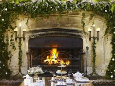 grand fireplace~ fawsley hall~LB