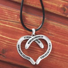 Horseshoe Heart Necklace - Horse Themed Gifts, Clothing, Jewelry & Accessories all for Horse Lovers