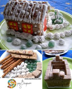 Gingerbread House - using materials other than graham crakers = Christmas time w/ family