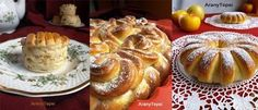 AranyTepsi Bread Recipes, Cooking Recipes, Cherry Cake, Bread Rolls, Sweet Bread, Biscotti, French Toast, Muffin, Dishes