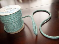 Fabric Floral Fabric Blue Fabric Cord Cord by SuzyQsVintageShop, $0.50