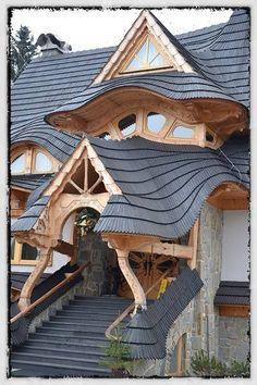 Stunning roof work in Zakopane, Poland