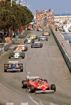 Gilles Villeneuve, Ferrari 126CK  Nigel Mansell, Lotus-Ford  Carlos Reutemann ~ Williams-Ford FW07C ~ 1981 Monaco pic.twitter.com/W68x6jbopr