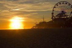 Santa Monica Pier by Lesley Carter