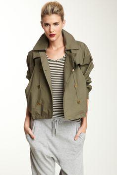 L.A.M.B. Crop Trench Jacket