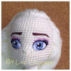 My 3 Elsa Eyes PDF Tutorial not the amigurumi por LikeCrochet