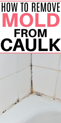 Need a DIY shower mold remover? Check out this simple tip on how to remove mold from caulk in the shower and bath. It works great and is easy to do! All Natural Cleaning Products, Homemade Cleaning Products, Household Cleaning Tips, Cleaning Recipes, House Cleaning Tips, Cleaning Hacks, Remove Mold From Shower, Shower Mold, Diy Shower