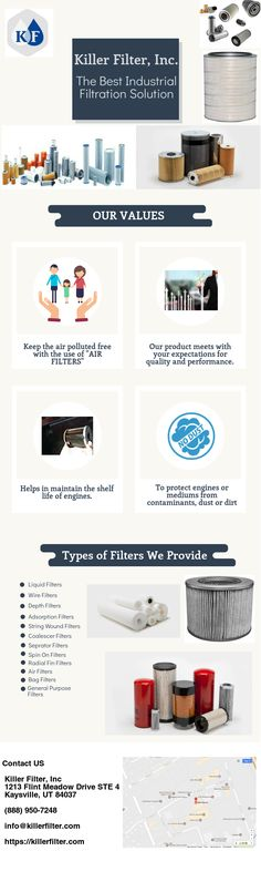 Killer Filter Inc. -The Best Industrial Filtration Solution Dust Collector, Compressed Air, Filters, Industrial, Good Things, Industrial Music