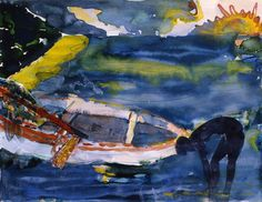 Romare Bearden, Watercolour and collage on paper