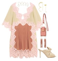 Chloe dress and bag loewe earring by hugohsm on Polyvore featuring polyvore moda style Charlotte Olympia fashion clothing