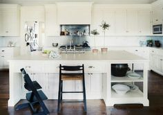 white kitchen via lonny