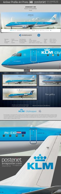 Embraer 190 KLM Cityhopper PH-EXD | #aviation #aviationlovers #jetliner #jet #airplane #avgeek #airport #airlineposter #airline #pilotlife #pilot #pilotwife #planes #cabincrew #posterjetavia Aircraft Maintenance Manual, Avion Jet, Air Serbia, Airline Cabin Crew, Atr 72, Airplane Photography, Cargo Airlines, Airbus A380, Aircraft Photos