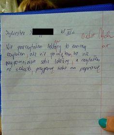 Trudno uwierzyć, co na klasówkach potrafią pisać (i nie tylko!) polscy uczniowie. Oglądając te sprawdziany, uśmiejecie się do łez, zwłaszcza że poczucia Sentences, Haha, Funny Memes, Humor, Diy, Frases, Bricolage, Ha Ha, Humour