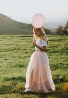 Blush maxi tulle skirt by Bliss Tulle