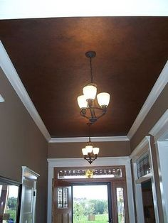 hallway ceiling - good place to experiment with bold colors