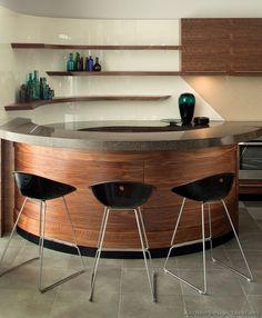 Modern Medium Wood Kitchen Cabinets