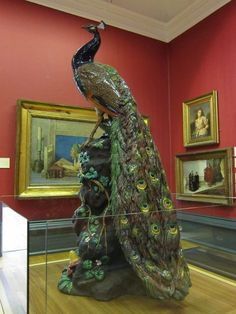 Minton made twelve of these peacocks in the and only nine are known to survive. This example has been roosting in the Walker gallery in Liverpool since (One of the other survivors is v… Peacock Decor, Peacock Colors, Peacock Bird, Peacock Theme, Peacock Design, Peacock Canvas, Art Nouveau, Sculpture Art, Sculptures