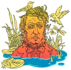 Why, given his hypocrisy, sanctimony, and misanthropy, has Thoreau been so cherished? Illustration for The New Yorker, by Eric Nyquist.