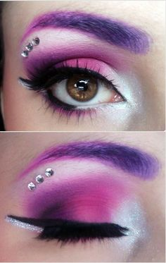 Pink purple make-up
