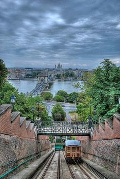 Even if it is cloudy, there is a breath-taking view from the Funicular! Don't miss it when you are in Budapest!