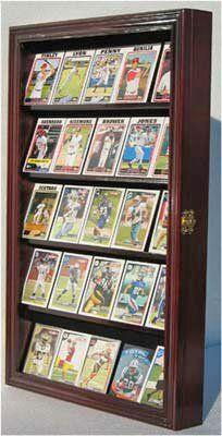Football Baseball Hockey Basketball Sports Trading Card Display Case -MAHOGANY (CC01-MA) Baseball Card Displays, Baseball Card Boxes, Sports Office, Trophy Display, Football Cards, Basketball Cards, Artist Trading Cards, Displaying Collections, Custom Framing