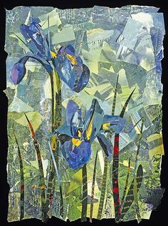 Eileen Downes - Collage Iris Morning, Solomon Dubnick Gallery