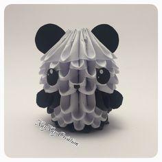 Joli Petit Panda en origami 3D : Autres art par xayxay