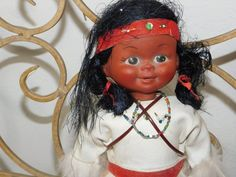 Baby Inside, Black Indians, Indian Dolls, Red Band, Doll Head, Last Minute Gifts, Fur Trim, Little Babies, Her Hair