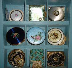 I love vintage compacts.  Am amazed at the beauty and detail of each one.  Such beautiful holders of powder, rouge, and lipstick.