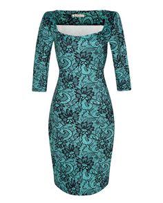 Velvet Flannel Elegant Floral Print Dress