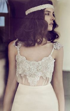 Sequined wedding gown,