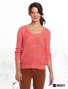 Roxy Juniors White Fire Sweater