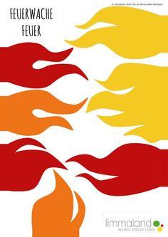 Feuerwehr basteln-Druckvorlage-Flammen-www.limmaland.com