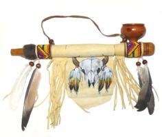 NATIVE AMERICAN CEREMONIAL PEACE PIPE