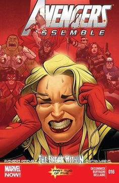 Avengers Assemble #16 THE ENEMY WITHIN: PART 2 OF 5 Who wants YOU for dinner? The Brood! Spider Woman & Captain Marvel declare war on the Magnetron! (Who?) Hawkeye has a bright idea!