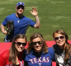 Photo Bomb by Josh Hamilton...that would be a dream come true...almost as good as actually getting a picture with him