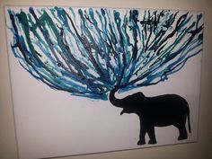 Visit my etsy shop! Melted crayon art featuring elephant
